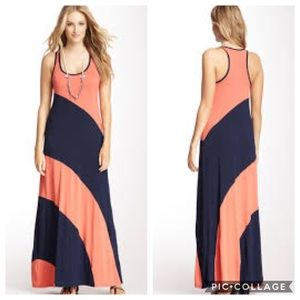 Michael Stars Colorblock Maxi Dress Sz M